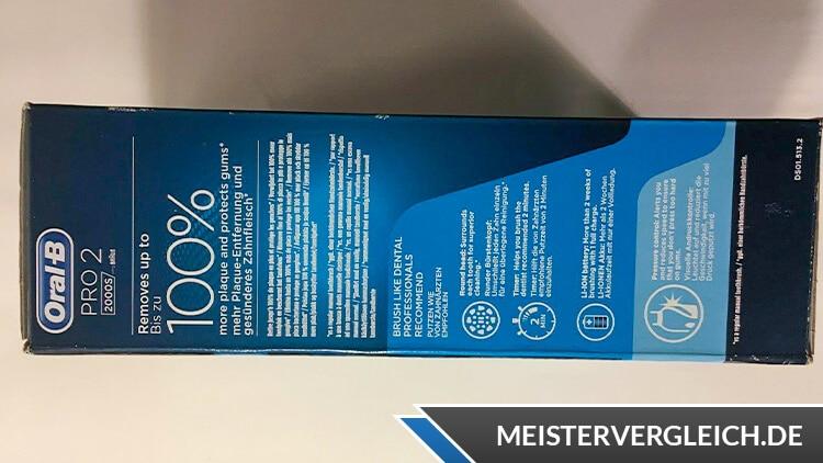 Oral-B PRO 2 2000S Vorteil
