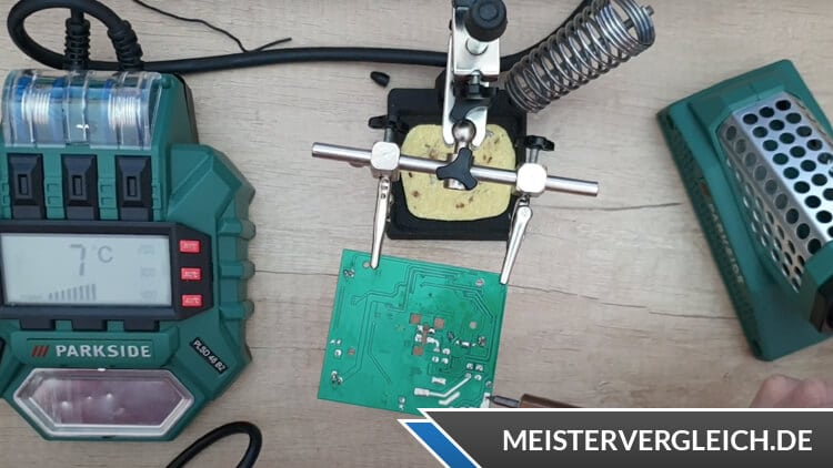 PARKSIDE Digitale Lötstation Testaufbau