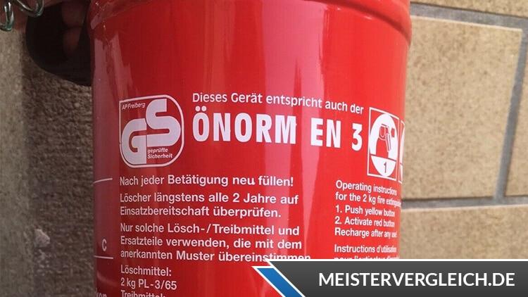 Protex Feuerlöscher GS Siegel