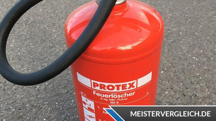 Protex Feuerlöscher Test