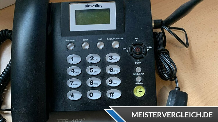 Telefon mit SIM-Karte Display