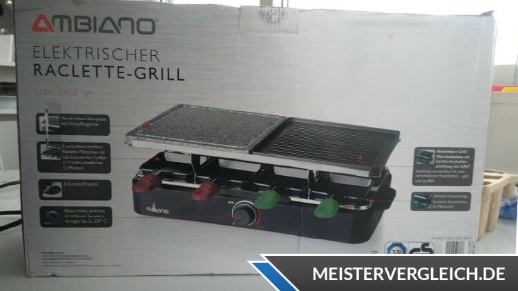 AMBIANO Raclette-Grill Verpackung