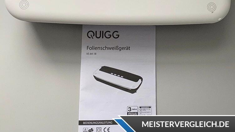 QUIGG Folienschweißgerät Bedienungsanleitung