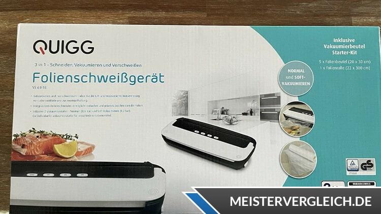 QUIGG Folienschweißgerät Verpackung