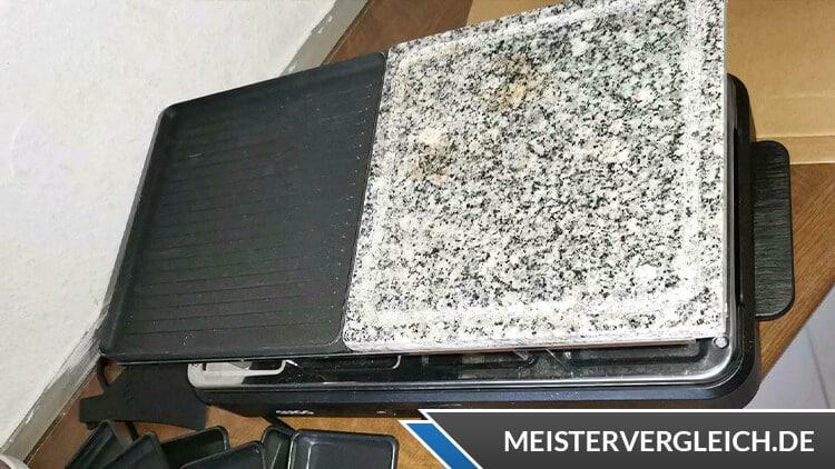 QUIGG Raclette Grill Steinplatte und Grillplatte