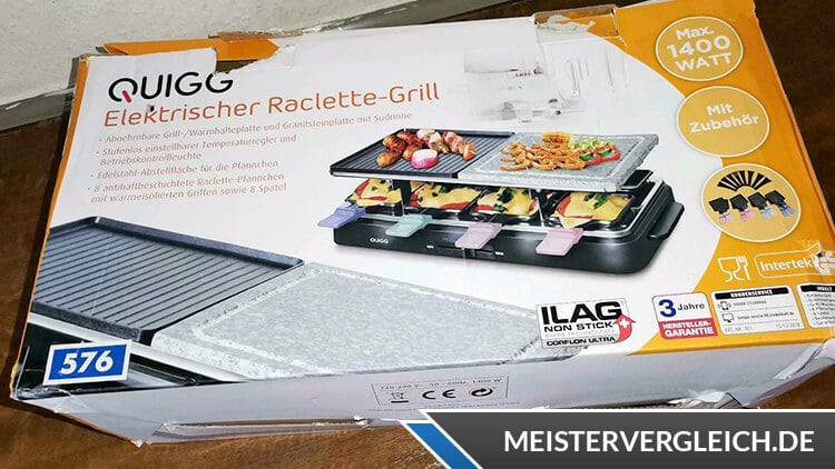 QUIGG Raclette Grill Unboxing