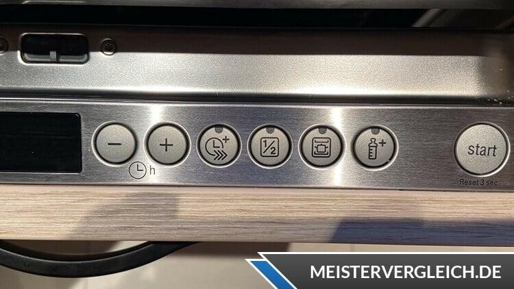 Siemens iQ500 Geschirrspüler Bedienelemente