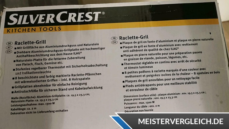 SILVERCREST Raclette-Grill Anwendung