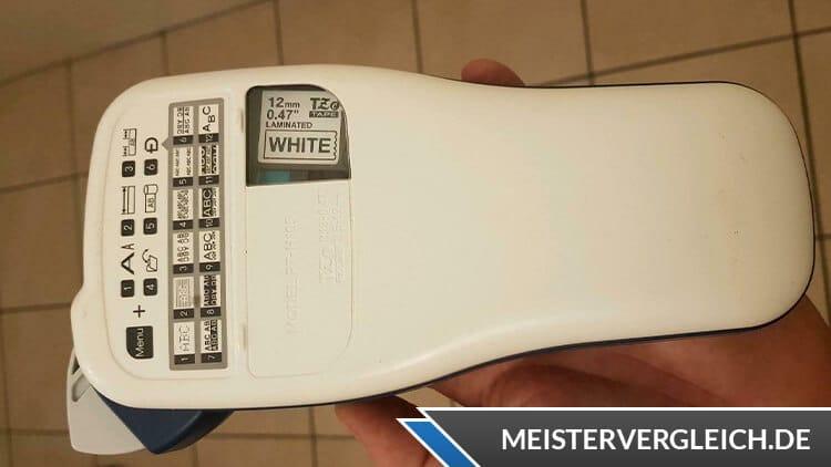 Brother Beschriftungsgerät P-touch H105 Rückseite
