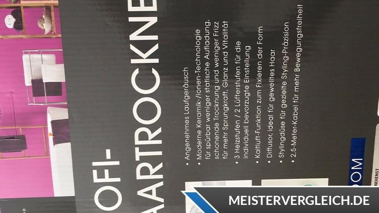 Easy Home Profi-Haartrockner Verpackung