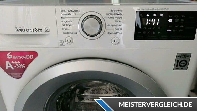 LG F14WM7KS1 Waschmaschine Bedienelemente