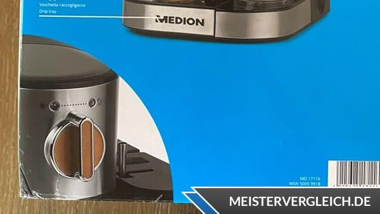 Medion MD 17116 Espressomaschine Bedienelemente
