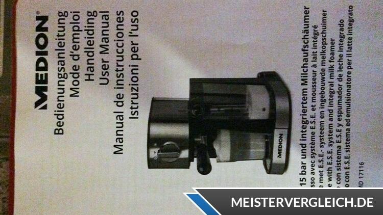 Medion MD 17116 Espressomaschine Bedienungsanleitung