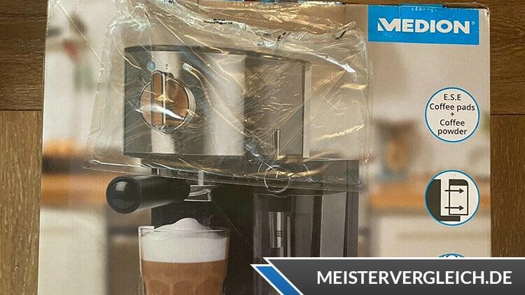 Medion MD 17116 Espressomaschine Verpackung