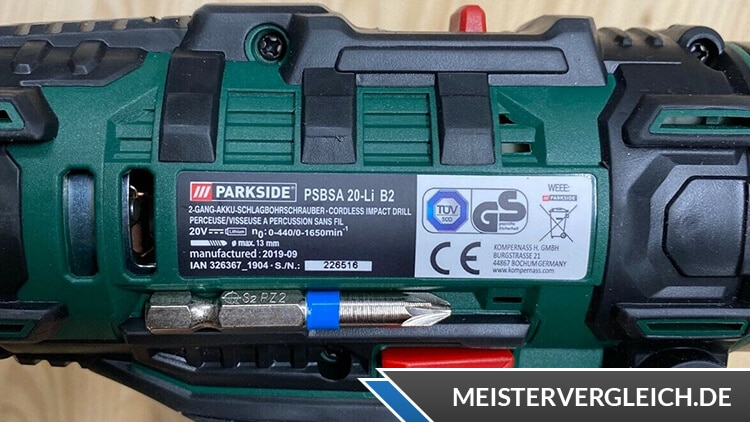 PARKSIDE Akku-Schlagbohrschrauber Datenblatt