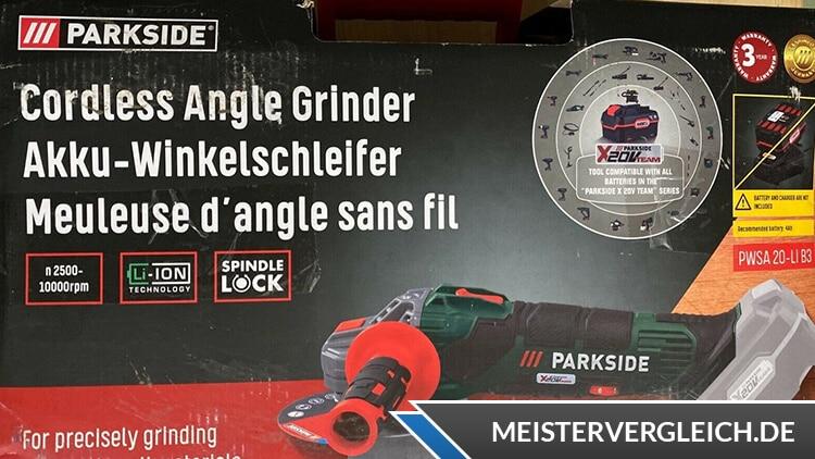 PARKSIDE Akku-Winkelschleifer Verpackung