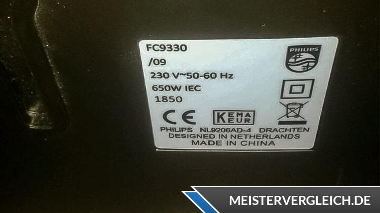 Philips FC9330-09 Bodenstaubsauger Datenblatt