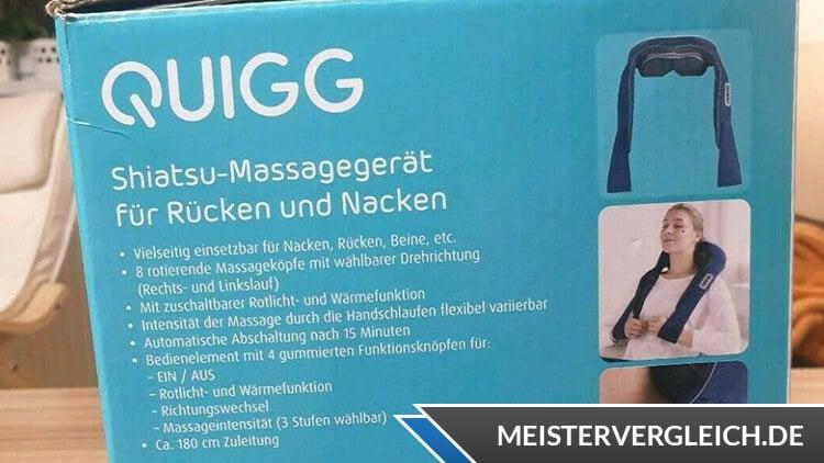 QUIGG Shiatsu Massagegerät Lieferumfang