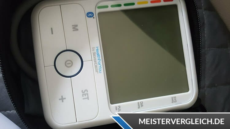 Silvercrest Oberarm Blutdruckmessgerät Bedienung
