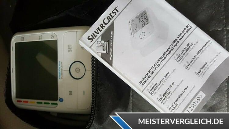 Silvercrest Oberarm Blutdruckmessgerät Lieferumfang