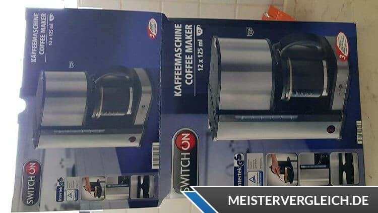SWITCH ON Kaffeemaschine Verpackung