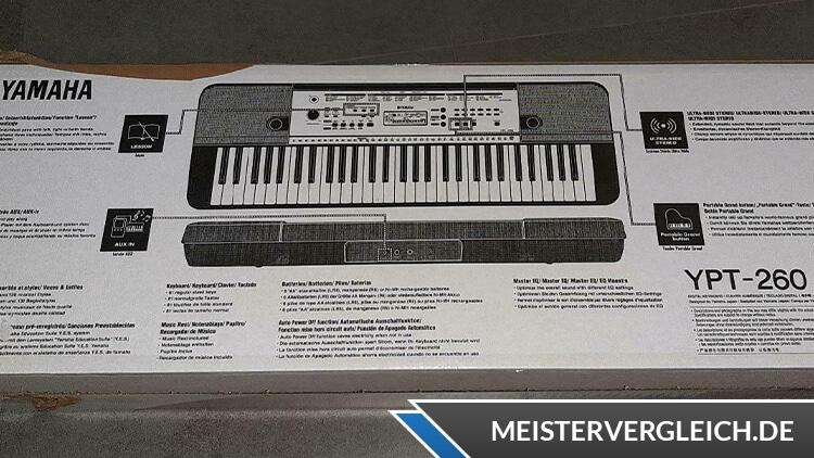 YAMAHA Keyboard YPT-260 Lieferumfang
