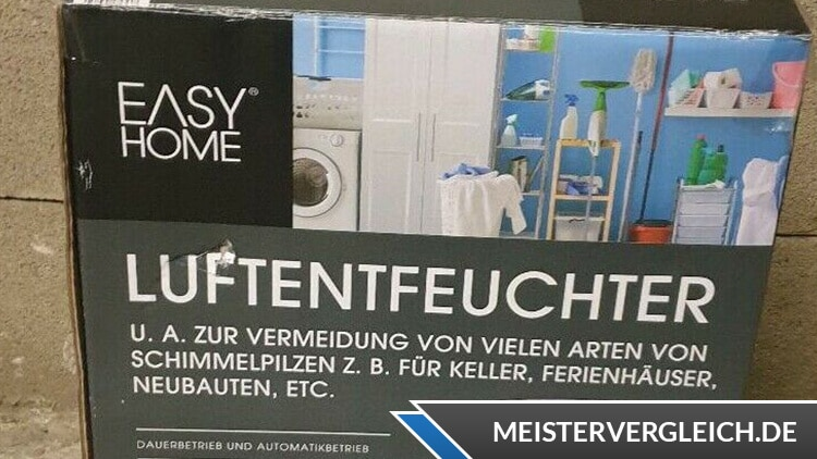 Easy Home Luftentfeuchter Verpackung