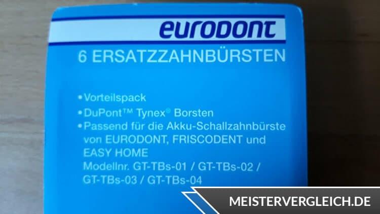 Eurodont Schallzahnbürste Vorteile