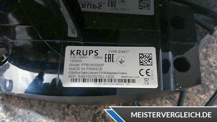 Krups Kaffeevollautomat EA815570 Datenblatt