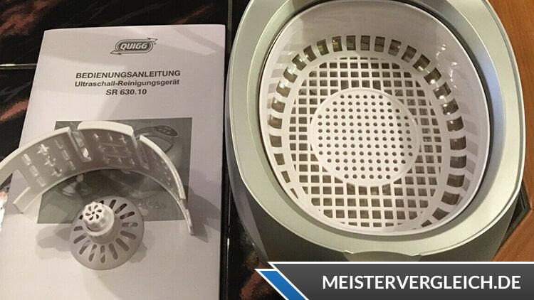 QUIGG Ultraschall-Reinigungsgerät Wassertank