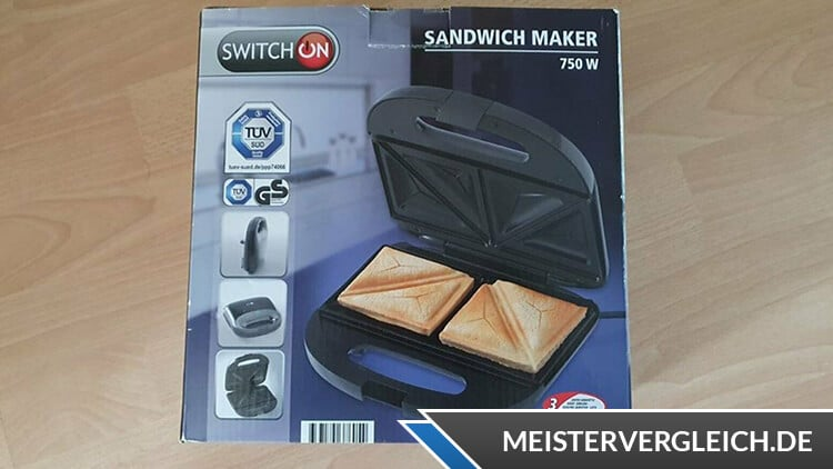 SWITCH ON Sandwichmaker 3 in 1 Verpackung