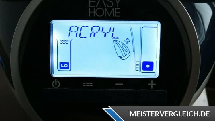 EASY HOME Dampfbügelstation Display mit Beleuchtung