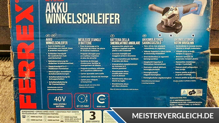 FERREX Akku-Winkelschleifer Anwendung