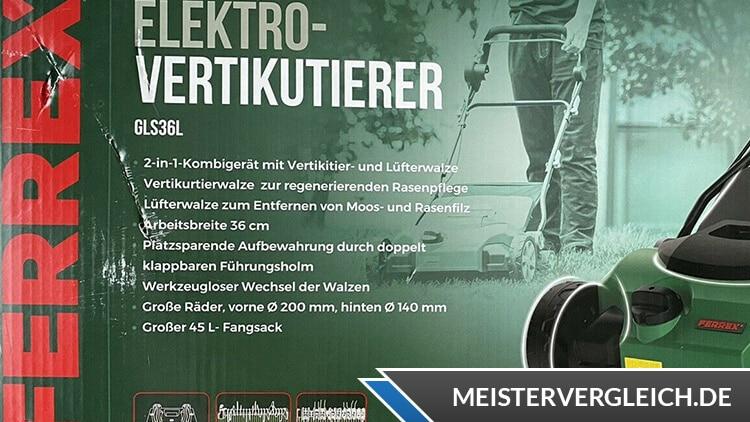 FERREX Elektro-Vertikutierer Verpackung