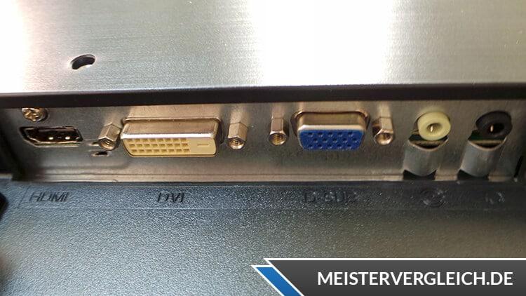 HP 27wm Monitor Anschlüsse