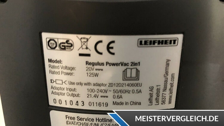 LEIFHEIT Akku-Stielsauger Rotaro PowerVac 2 in 1 Datenblatt