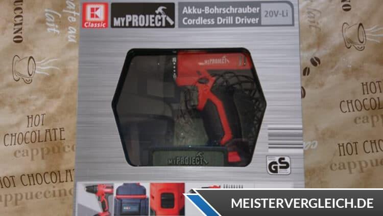 MY PROJECT Akku-Bohrschrauber Verpackung