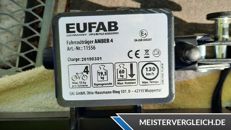 EUFAB Amber IV Datenblatt