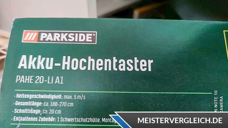 PARKSIDE Akku-Hochentaster Test