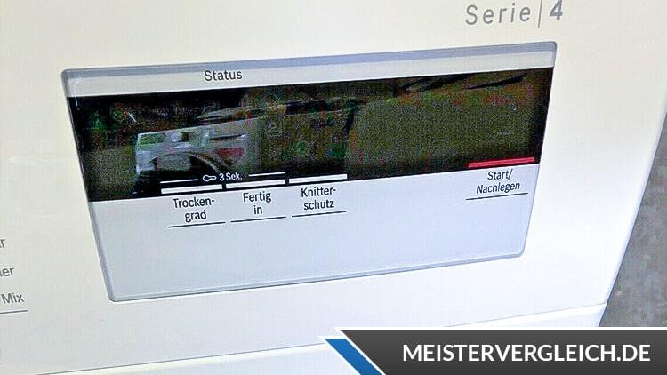 BOSCH WTH83002 Serie 4 Wärmepumpentrockner Display