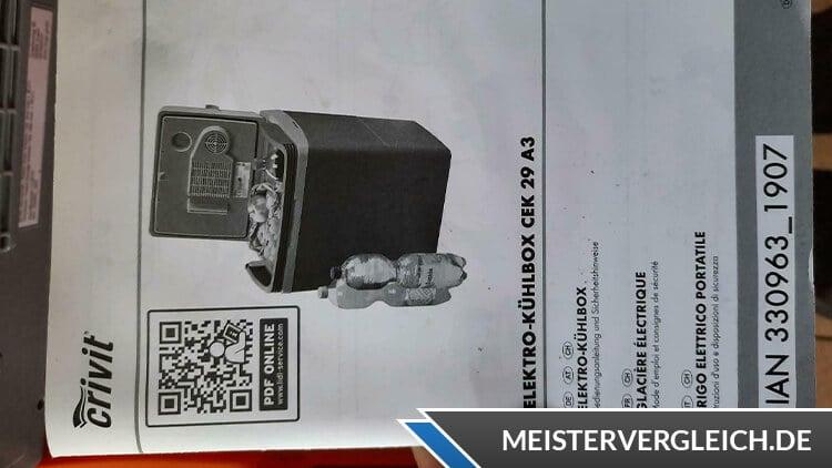 CRIVIT Elektro Kühlbox Bedienungsanleitung