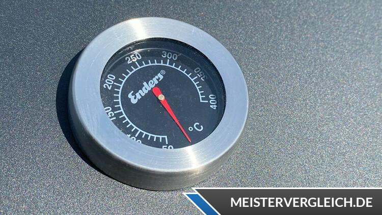 ENDERS Holzkohle-Grillwagen Mason Thermometer