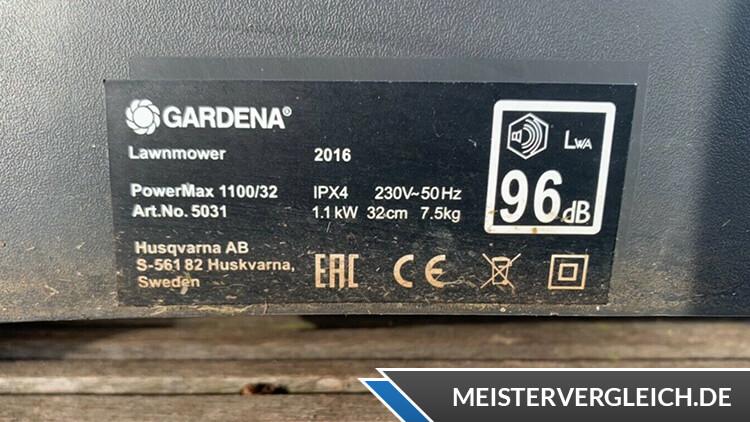 GARDENA PowerMax 1100-32 Datenblatt