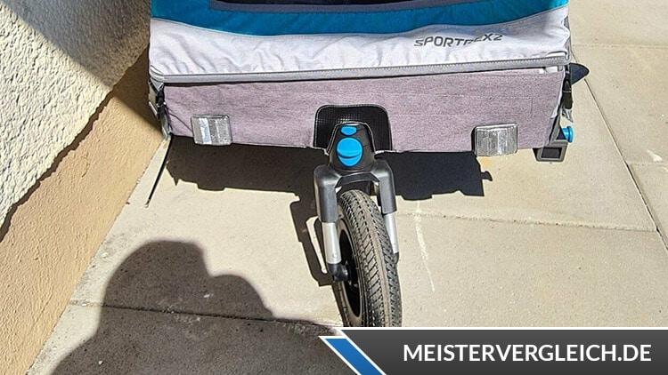 Qeridoo Fahrradanhänger Sportrex2 Lenkrad