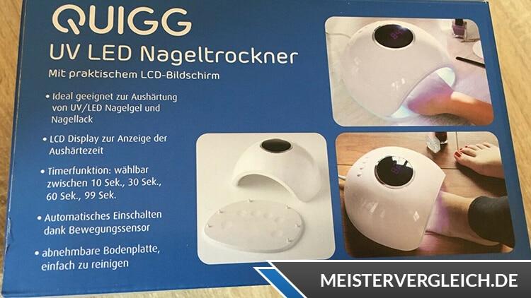 QUIGG UV LED Nageltrockner Anwendungen