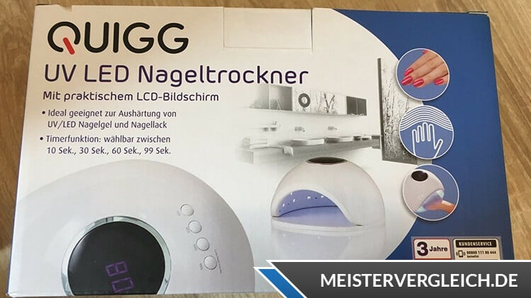 QUIGG UV LED Nageltrockner Verpackung