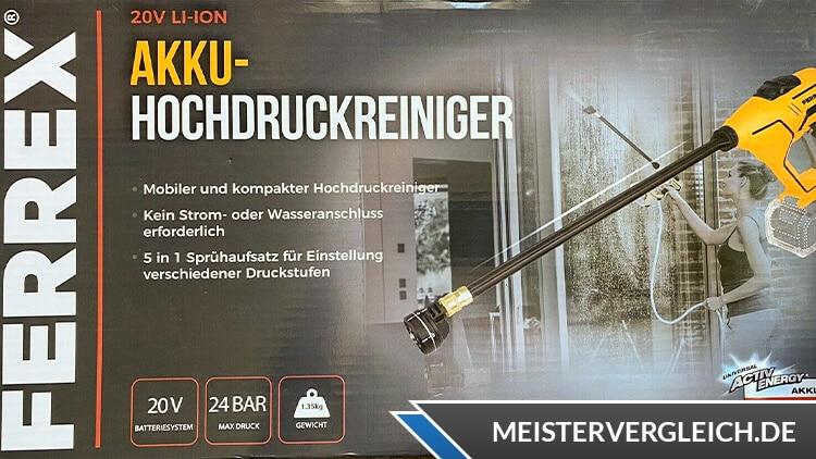 FERREX 20 V Akku-Hochdruckreiniger Test