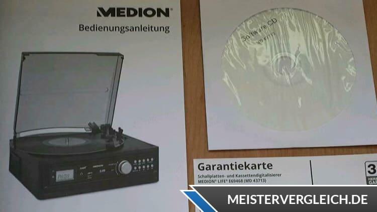 MEDION LIFE E69143 (MD 43142) Schallplatten- und Kassettendigitalisierer Bedienungsanleitung