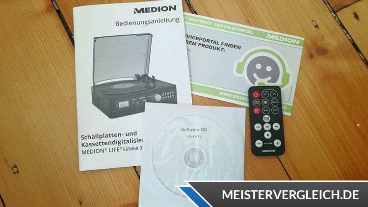MEDION LIFE E69143 (MD 43142) Schallplatten- und Kassettendigitalisierer Fernbedienung