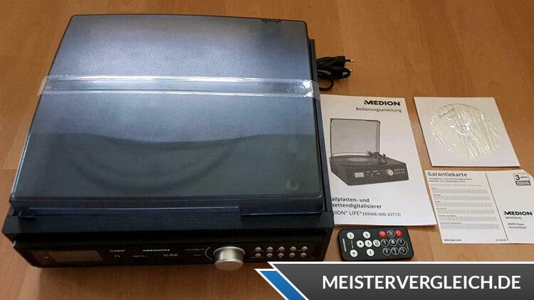 MEDION LIFE E69143 (MD 43142) Schallplatten- und Kassettendigitalisierer Lieferumfang